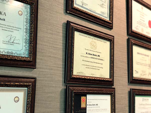 certifications of dr demir